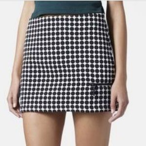 TopShop 70s Style Skirt with Zipper Pockets